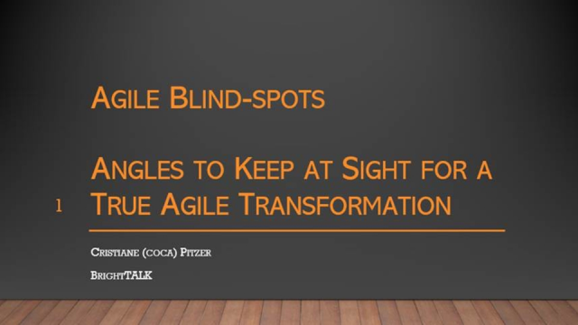 Agile Blind-spots: Angles to Keep at Sight for a True Agile Transformation