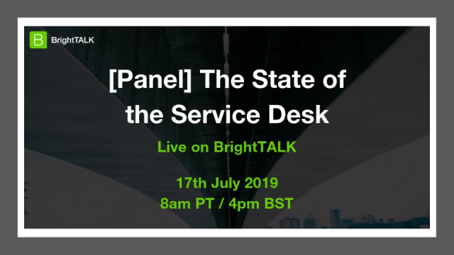 The State of the Service Desk
