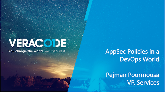 AppSec Policies in a DevOps World