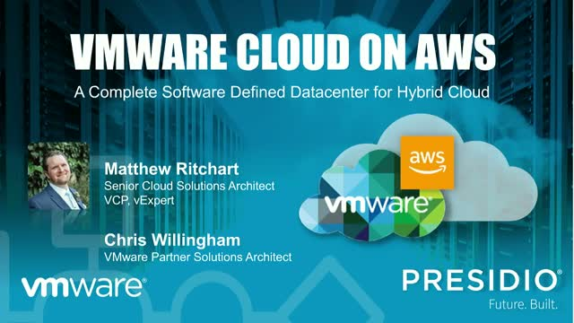 VMware Cloud on AWS: A Complete Software Defined Datacenter for Hybrid Cloud