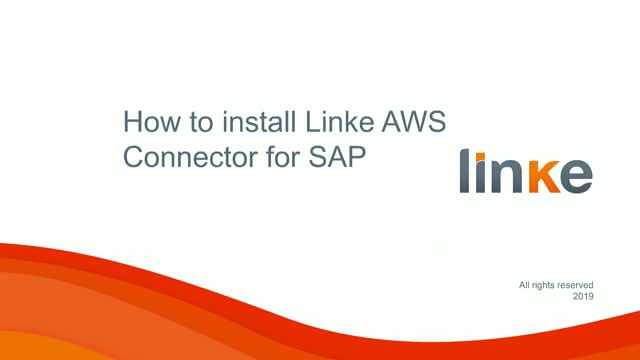 SAP Systems integration with Cloud: how to install Linke AWS Connector for SAP