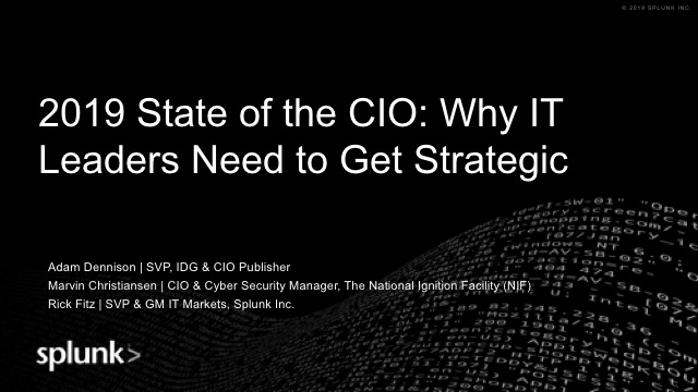 2019 State of the CIO: Why IT Leaders Need to Get Strategic