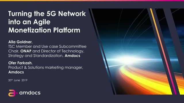 Turning the 5G Network into an Agile Monetization Platform