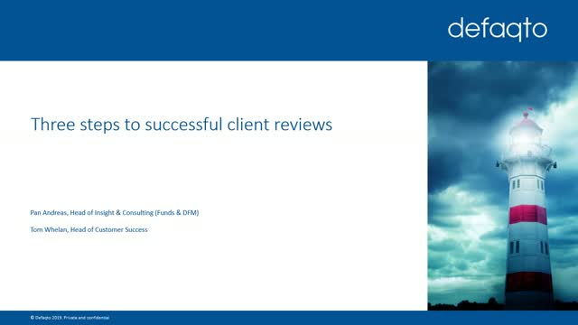 Three steps to successful client reviews