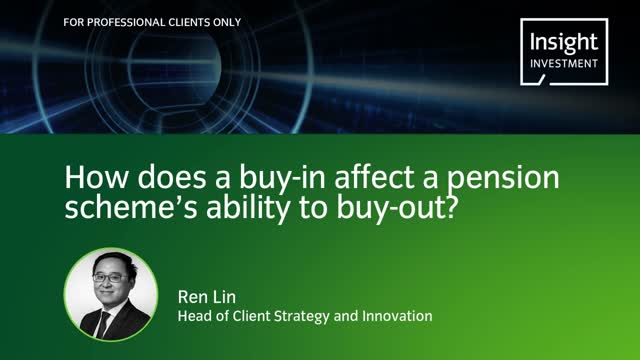 How does a buy-in affect a pension scheme's ability to buy out?