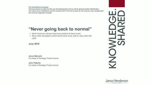"""Never going back to """"normal""""... The outlook for bond markets"""