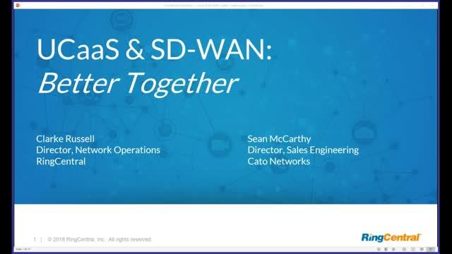 UcaaS and SD-WAN: Better Together