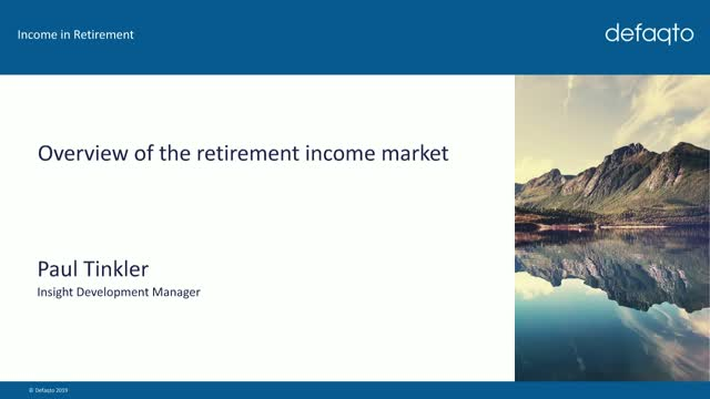 Overview of the retirement income market