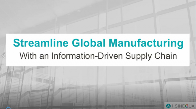 Webcast Aberdeen & Sinequa - Streamline Global Manufacturing Supply Chain