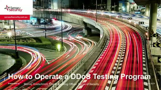 How to Operate a DDoS Testing Program