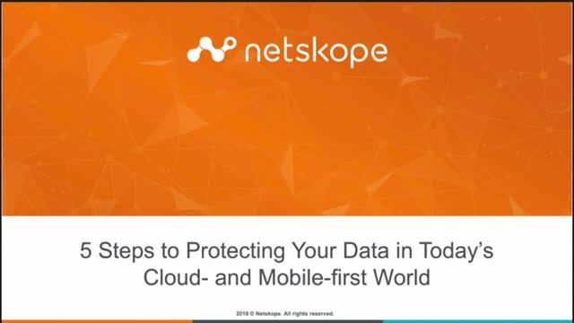5 Steps to Protecting Your Data in Today's Cloud- and Mobile-First World