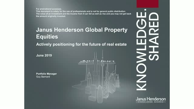 Global Property Equities: Actively positioning for the future of real estate