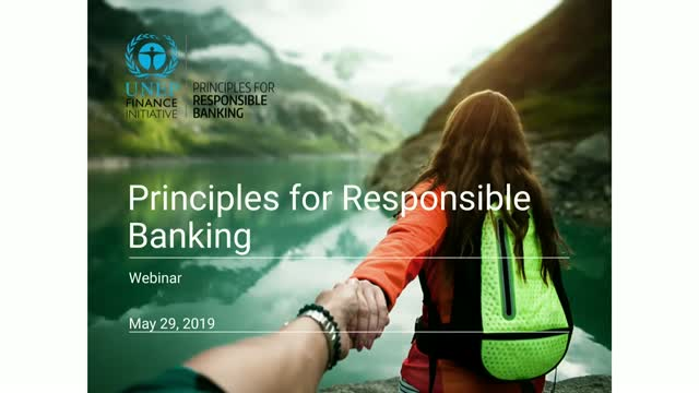 Simplified process, flexible implementation – Principles for Responsible Banking