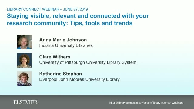 Staying visible, relevant and connected with your research community