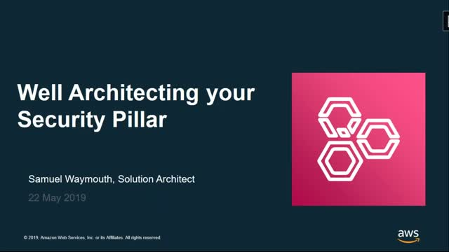 Well Architecting Your Security Pillar
