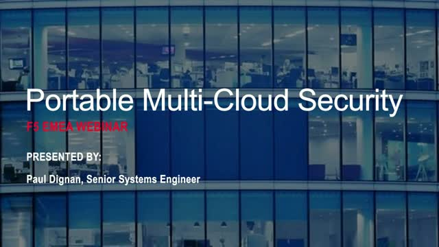How to Achieve Portable Multi-Cloud Security