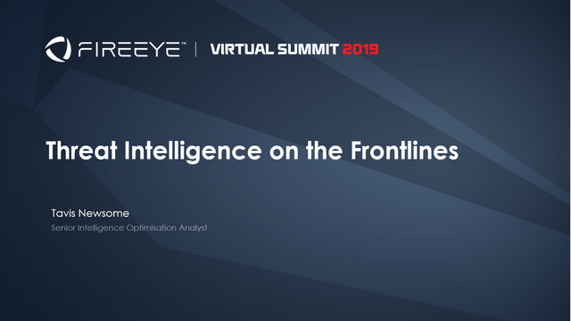 Threat Intelligence on the Frontlines