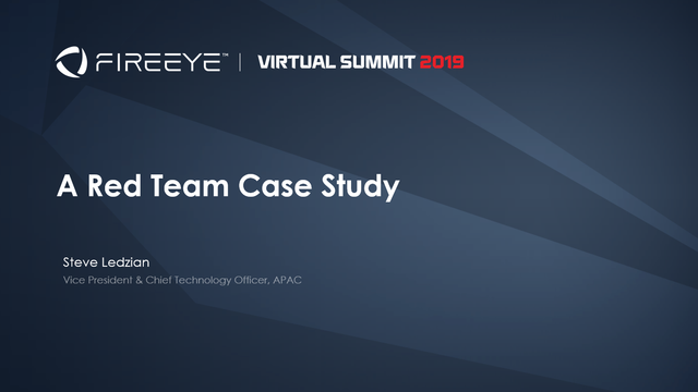 A Red Team Case Study