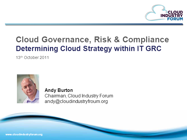 Determining Cloud Strategy within  IT GRC
