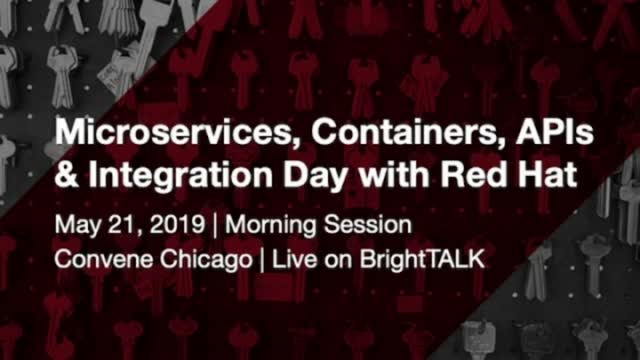 Opening Remarks - Microservices, Containers, API's and Integration Day