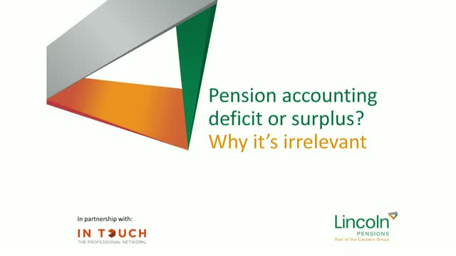 Pension Accounting Deficit or Surplus? Why it's irrelevant?