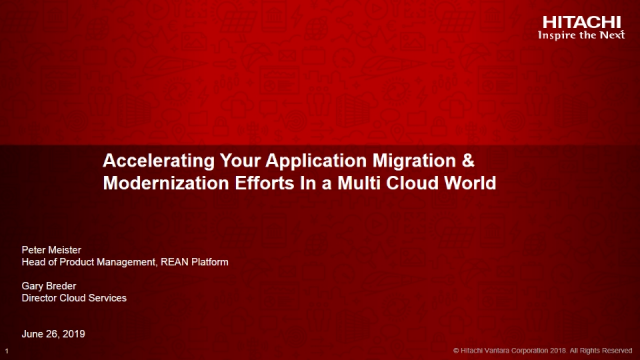 Accelerate your Application Migration & Modernization in a Multi-Cloud World