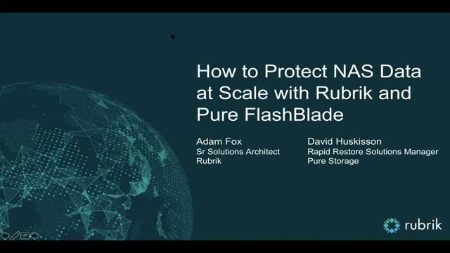 How to Protect NAS Data at Scale with Rubrik and Pure Storage FlashBlade