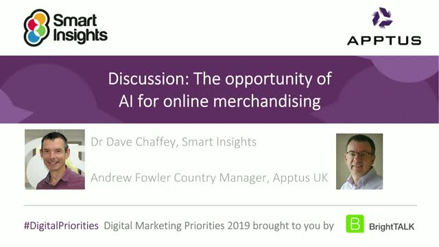 Discussion: The opportunities provided by AI for online search and merchandising
