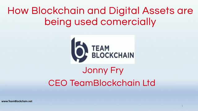 How Blockchain and Digital Assets are being used commercially