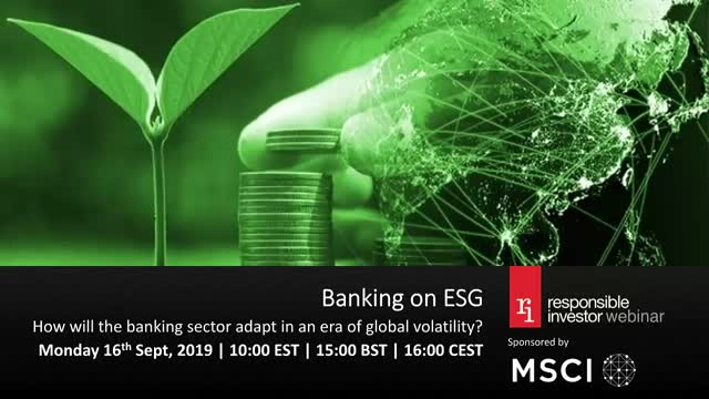 Banking on ESG: How will the banking sector adapt in an era of global volatility