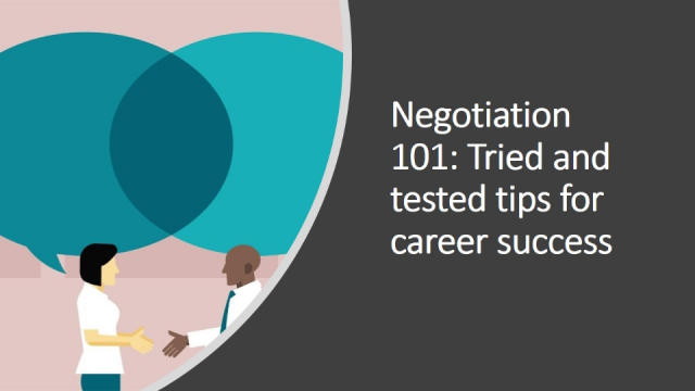 Negotiation 101: Tried and tested tips for career success