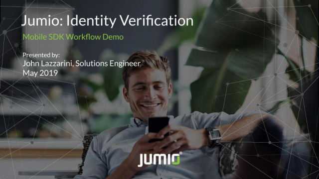 Jumio How It Works: Mobile SDK Workflow