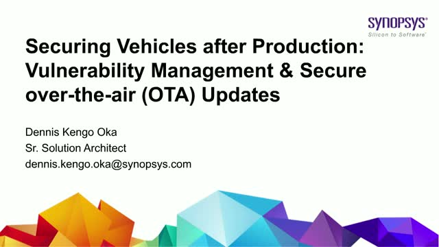 Securing Vehicles after Production: Vulnerability Management & Security updates