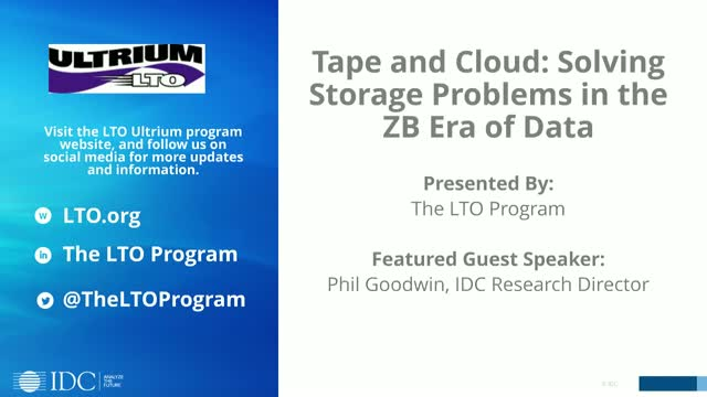Tape and Cloud: Solving Storage Problems in the ZB Era of Data
