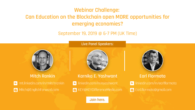 Can Education on the Blockchain open MORE opportunities for emerging economies?