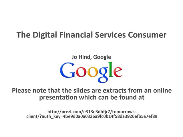 The Digital Financial Services Consumer