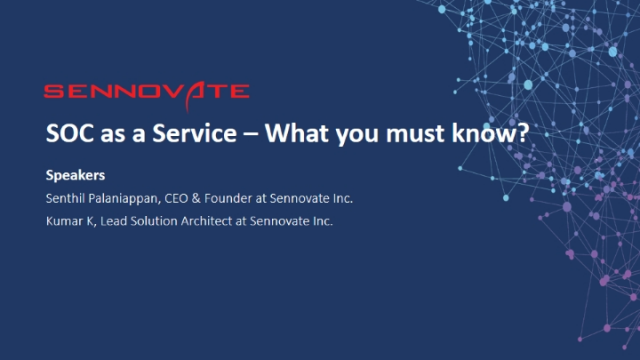 SOC as a Service – What you must know?