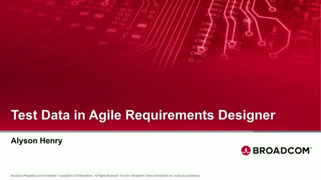 Test Data in Agile Requirements Designer