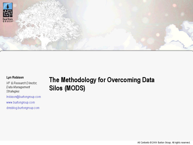The Methodology for Overcoming Data Silos (MODS)
