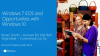 End of Support for Windows 7 and Opportunities with Windows 10
