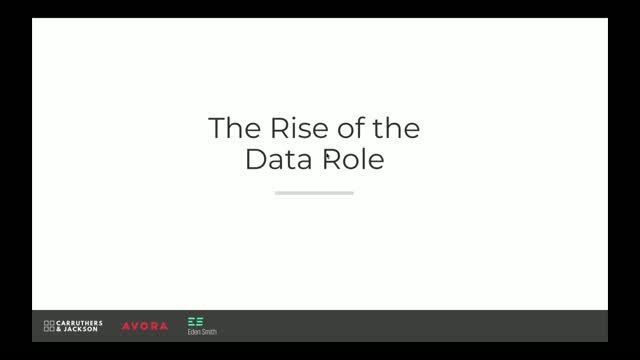 The Rise of the Data Role