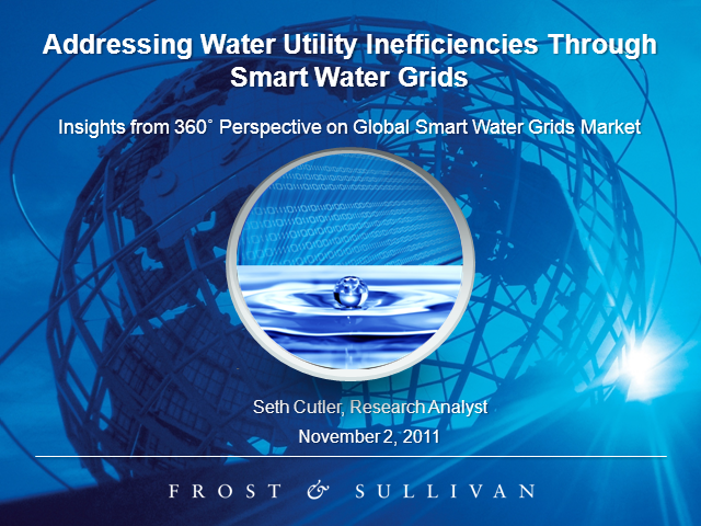 Addressing Water Utility Inefficiencies through Smart Water Grids