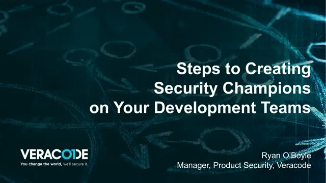 Steps to Creating Security Champions on your Application Development Team