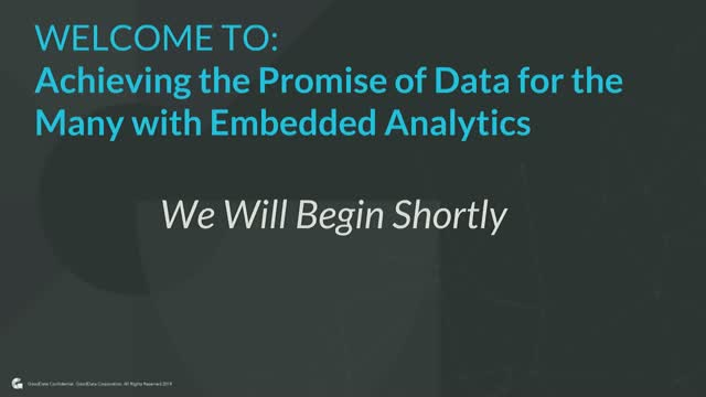 Achieving the Promise of Data for the Many with Embedded Analytics