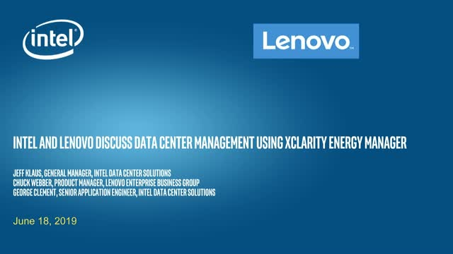 Lenovo and Intel discuss data center efficiency tools