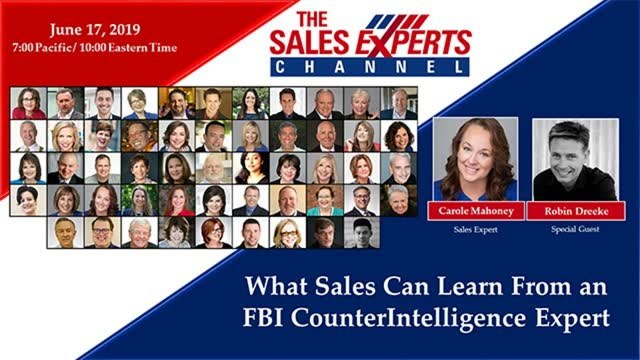 What Sales Can Learn From an FBI CounterIntelligence Expert