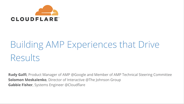 Building AMP Experiences that Drive Results