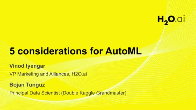 5 Key Considerations in Picking an AutoML Platform