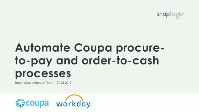 Automate Coupa procure-to-pay and order-to-cash processes