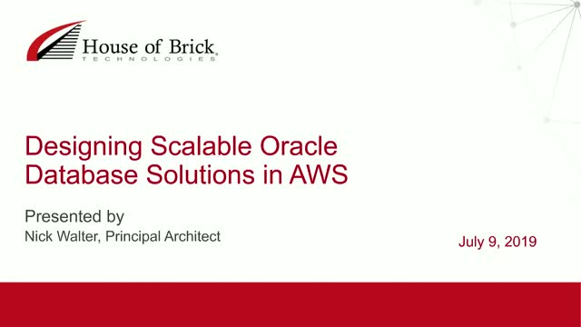 Designing Scalable Oracle Database Solutions in AWS